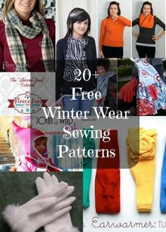Hats, gloves and scarves to sew for winter | So Sew Easy | Bloglovin