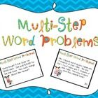Two step word problems can definitely be a challenge!  Allow your students to practice multi step word problems with these 32 task cards.  ($)