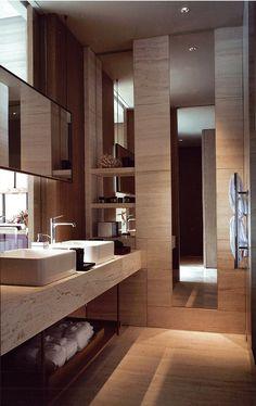 Gorgeous 47 Awesome Contemporary Bathroom Ideas #ContemporaryInteriorDesignbathroom