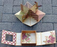 Idée de mini dans une boîte... http://derscrapbookladen.wordpress.com/2012/10/18/workshop-album-in-einer-schachtel-box/