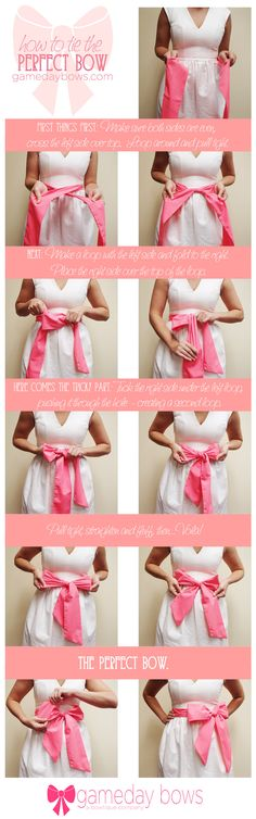 How to Tie the Perfect Bow -- finally I will be able to tie my girls' bows on their dresses