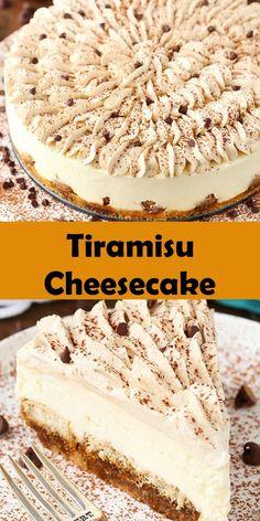 No Bake Desserts, Just Desserts, Delicious Desserts, Dessert Recipes, Yummy Food, Homemade Cake Recipes, Baking Recipes, Cookie Recipes, Tiramisu Cheesecake