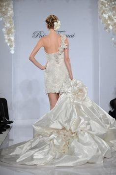 Pnina Tornai... detachable skirt for the party after the ceremony