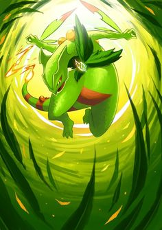 Mega Sceptile by chirenbo on DeviantArt Rayquaza Pokemon, Pokemon Alola, Pokemon Fan Art, Cool Pokemon Wallpapers, Cute Pokemon Wallpaper, Pokemon Images, Pokemon Pictures, Mega Evolution Pokemon, Pokemon Realistic