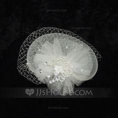 Headpieces - $14.99 - Gorgeous Rhinestone Pearl Net yarn Fascinators (042026123) http://jjshouse.com/Gorgeous-Rhinestone-Pearl-Net-Yarn-Fascinators-042026123-g26123