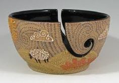Image result for yarn bowl pottery