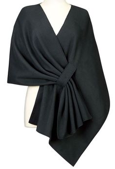 Elegant Solid Color Pleated Cloak Cape For Women                                                                                                                                                      More