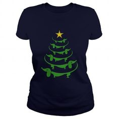 Awesome Dachshund Lovers Tee Shirts Gift for you or your family your friend:  Dachshund tree t shirt Christmas Tee Shirts T-Shirts