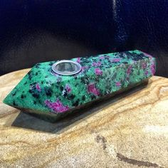 This is handmade Ruby Epidote Crystal Pipe. To view and order please visit my…
