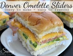 All the flavors of a classic Denver omelette in a delicious mini slider!