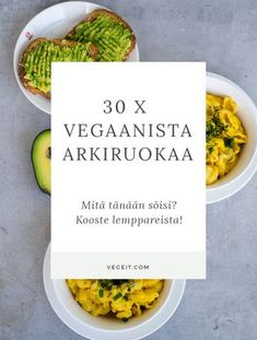 30 x vegaanista arkiruokavinkkiä - mitä tänään söis? - Vege it! Veggie Recipes, Real Food Recipes, Vegetarian Recipes, Snack Recipes, Yummy Food, Healthy Recipes, Food Porn, Vegan Meal Prep, Curry