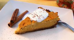 Want to enjoy your vegetables and eat cake too? Try this gluten free pumpkin cheesecake vegan recipe. It's delicious and quick; from start to finish, it can be served in less than one hour! Gluten Free Treats, Gluten Free Baking, Vegan Baking, Gluten Free Desserts, Vegan Desserts, Vegan Gluten Free, Gluten Free Recipes, Baking Recipes, Vegan Recipes
