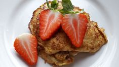 Schnelle Bananen-Pancakes - Rezept von Elena´s Allerlei Dessert, French Toast, Banana, Breakfast, Muffins, Food, Design, Recipes With Bananas, Strawberries