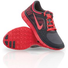 Nike Free Run 3 Women\u0026#39;s Running Shoe Run 510643 060 Dark Grey Crimson