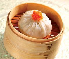 黃油蟹粉灌湯小籠包 dim sum, dumplings