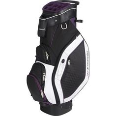 The Diva, a women's riding cart bag with a stylish edge, comes complete with all of the features that make Sun Mountain's cart bags so functional. It has a reverse-orientation, 15-way top, an integrat