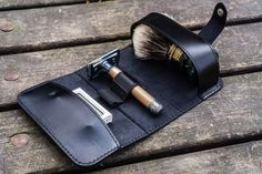 Your Shopping Cart - Galen Leather Wet Shaving, Dopp Kit, Travel Kits, Vegetable Tanned Leather, Corporate Gifts, Cow Leather, Solid Black, Handmade Leather, Mens Fashion