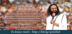 Human flourishing: A conversation with Sri Sri Ravi Shankar Join live webcast on 24th June at 12:30 pm ET / 10pm IST To know more, click here: http://bit.ly/1pX1lGd  #humanflourishing #society #culture