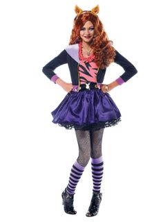 Be fierce, fashionable, and furry in a Clawdeen Wolf Costume for girls! Clawdeen Wolf Costume is an officially licensed Monster High costume. Girls Wolf Costume, Wolf Halloween Costume, Halloween Costumes For Teens Girls, Girl Costumes, Halloween Kids, Cosplay Costumes, Costume Ideas, Movie Costumes, Halloween Birthday