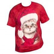 Santa Cat Christmas T-Shirt, download this press image at prshots.com/press #fashion #top #cat #trend #style #fblogger #fashionblogger
