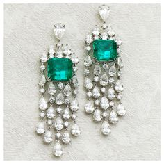 Laviere Emerald and Diamond Earrings