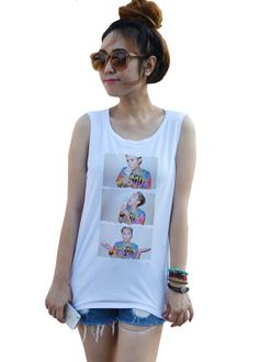 Miley Cyrus ice cream Tank top Singlet vest Tops by dazztees, $14.99