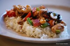 This is one of my favorite weekday dishes. - This is one of my favorite weekday dishes. It always makes me very happy. Very suitable for a lazy- - Great Recipes, Dinner Recipes, Favorite Recipes, Baked Chicken Legs, Cashew Chicken, Asian Recipes, Healthy Recipes, Healthy Food, Seafood Diet