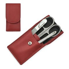 Hans Kniebes' Sonnenschein Manicure Set with crystal nail file, in Nappa Leather Case made in Germany About the product Hans Kniebes Manicure Set with Mont Bleu Crystal Nail File Ideal to take on your trips and journeys, or as gift fo.