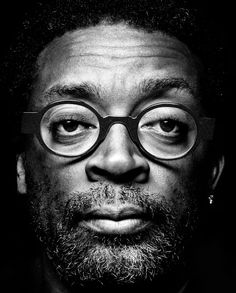 ♂ Black and white man portrait face of Spike Lee