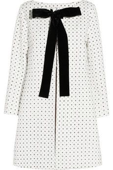 Miu Miu- Cotton Coat.  With this coat being cotton, you don't have to necessarily wear it during the winter. It would make a great coat in the chilly fall weather. It's also a great statement to kick off the new season!