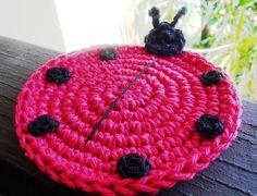 Crochet Ladybug Coasters Pattern