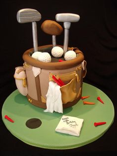 24 Best Creative Golf Grooms Cake Ideas You Can Try on Your Wedding golf cake birthday (This is an affiliate link) Click photo for even more details. Golf Grooms Cake, Groom Cake, Golf Cake Toppers, Golf Birthday Cakes, 50th Birthday, Birthday Ideas, Cake Design For Men, Dad Cake, 50th Cake