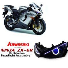 Kawasaki Ninja ZX-6R  HID Projector Custom Headlight Assembly 2005-2006 http://www.ktmotorcycle.com/custom-headlights/kawasaki-custom-headlights/kawasaki-ninja-zx-6r/kawasaki-ninja-zx-6r-2005-2006.html