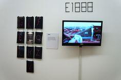 """E1000 en la exposición """"Por todas partes. Graffiti y tipografía"""" Galería Swinton And Grant. Madrid. #typomad2014 #Madrid. #streetart #arteurbano #galerias #exposiciones #Arterecord 2014 https://twitter.com/arterecord"""