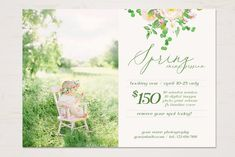 Spring Mini Session Template by TheSeventhDesire on Photoshop Program, Photography Mini Sessions, Print Release, Spring Photos, Photography Marketing, Digital Scrapbook Paper, Photoshop Elements, Design Crafts, Digital Image