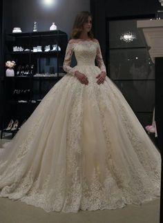 Princess royal off shoulder wedding dress Nuria by Olivia | Etsy