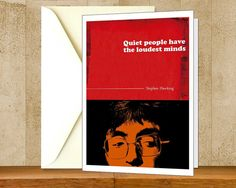"""Stephen Hawking Inspiration Quote Greeting Card, Printable Colorful Instant Download Science Nerd Card, Typography Digital Educational Print. Use the coupon code, """"PIN10"""" for 10% off on your entire purchase! Click to buy and print!"""