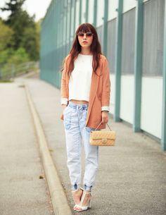 Shop this look on Kaleidoscope (jacket, shirt, jeans, sandals)  http://kalei.do/WpbXYLgZbFH4wDh4
