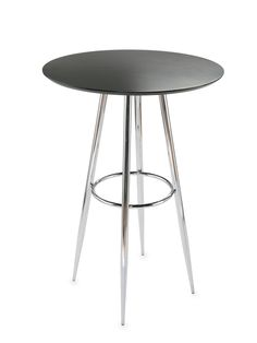 Bravo-B Bar Table (Black) by Euro Style at Gilt