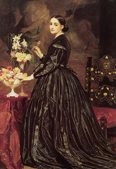 Mrs. Ellinor Guthrie, Frederic Leighton #victorian #painting