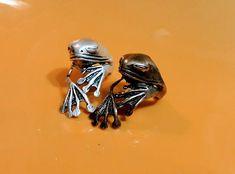 Frog Rings Chameleon Rings Animal Jewelry Lizard Jewelry