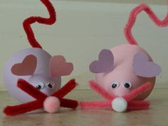 Valentine Mouse Puppets