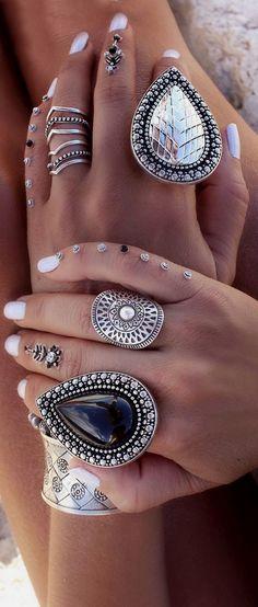 Bohemian style rings  Bohemian style rings