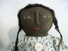 Items similar to PATTERN, Primitive black doll, handmade fabric doll, soft sculpture, Dumplinragamuffin on Etsy Primitive Crafts, Primitive Doll, Art Birthday, Soft Sculpture, Fabric Dolls, Doll Patterns, Fiber Art, Art Dolls, Primitive