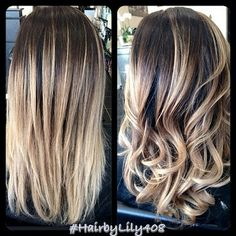 Found this from Hair by Lily, balayage ombre high lights, dimension! Ombre Hair, Balayage Hair, Blonde Hair, Ash Blonde, Hair Color And Cut, Hair Affair, Great Hair, Hair Dos, Gorgeous Hair