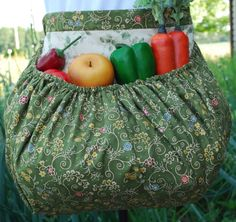 Garden Harvest Apron by TumbleweedJunction on Etsy, $49.50