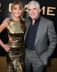 """Jennifer Lawrence and Gary Ross at the LA premiere of """"The Hunger Games"""""""