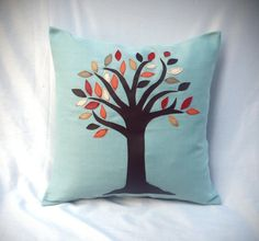 Fall Tree Appliqued Accent Cushion- always a strong symbolic image for teachers of young children, i think