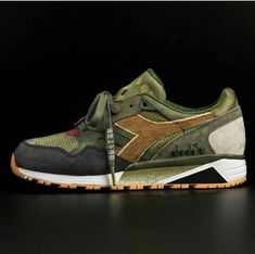 """24 Kilates & mita Link up With Mighty Crown on a """"Respect Over Hate"""" Diadora Sneaker: Releasing this month. Sneakers Mode, Casual Sneakers, Sneakers Fashion, Casual Shoes, Kicks Shoes, Men's Shoes, Shoes Sneakers, Sneaker Games, Sneaker Art"""