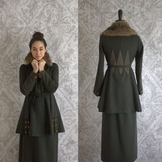 Antique 1910s Suit Wool Edwardian Victorian by SassySisterVintage